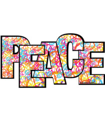 Peace Word Magnet