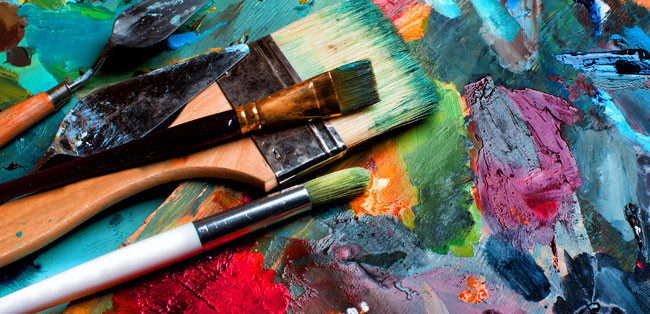 Artists - image of paint brushes